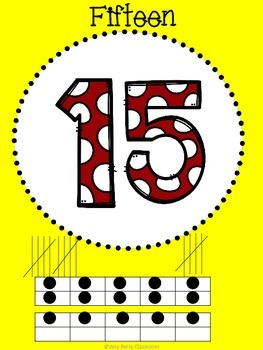 Polka Dots and Bows Common Core Number Posters (0-20)