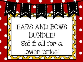 Ears and Bows Decor Bundle!