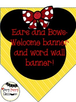 Ears and Bows Full Sized Welcome Banner/Word Wall Banner