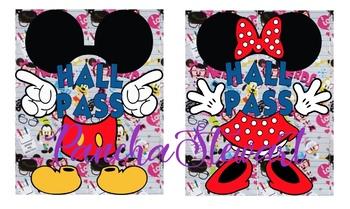 Mickey and Minnie Hall Pass
