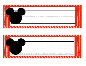 Disney -Mickey and Minnie Head Name Tags