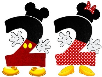 Disney Themed Mickey and Minnie Mouse Numbers