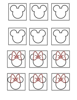 Mickey and Minnie Mouse cards