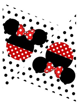 Mickey and Minnie Pennant Banner