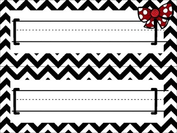 Polka Dot and Bows Style Name Plates