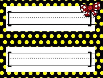 Polka Dot and Bows Style Name Plates
