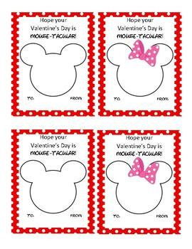 Mickey and Minnie Valentine's Day Card