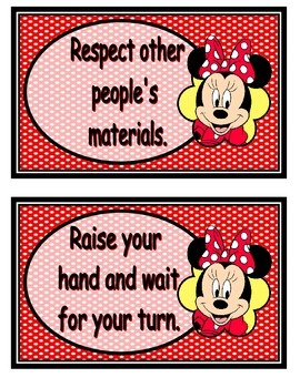 Mickey and Minnie rules