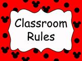 Mickey themed classroom rules - EDITABLE