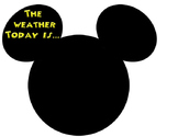 Mickey themed interactive weather display