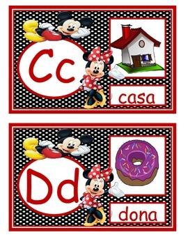 Mickey y Minnie alfabeto