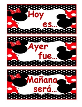 Mickey y Minnie calendario