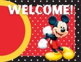 Micky Mouse Classroom Poster Set