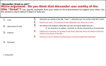 Micro-Argument:Argumentative prompt Alexander: Great or not?