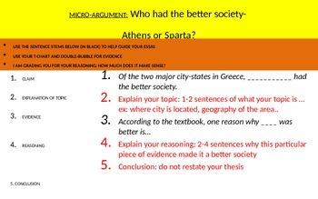 Micro-Argument:Argumentative prompt Athens vs Sparta-Who h