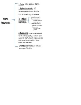 Micro-Arguments: Argumentative writing directions