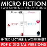 Micro Fiction, Creative Writing Fun for Teens, Narrative Writing, Sub Plan, CCSS