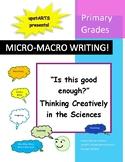 "Micro-Macro Writing:  ""Is this good enough?"" Thinking crea"