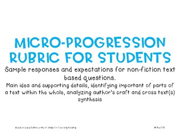 Micro-Progression Rubric Non Fiction #2