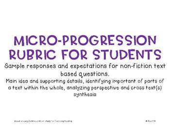 Micro-Progression Rubric Non Fiction #3