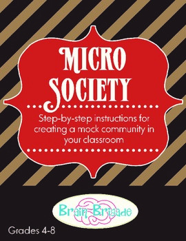 Micro Society | Guidelines & materials for a mock government in grades 4-8