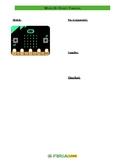 Micro:bit Planning Sheet