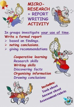 Micro-investigation research and report writing task