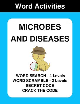 Microbes and diseases - Word Search Puzzle, Word Scramble,  Crack the Code