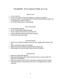 Microbial Life - Viruses, Bacteria, Protists, & Fungi - Niology Notes & Handout