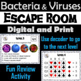Bacteria & Viruses Activity: Microbiology Escape Room Science Breakout Game