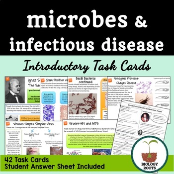 Microbiology Task Cards: Microbes and Infectious Disease