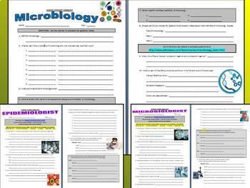 Microbiology Webquests - Cells (1 General / 2 Careers)