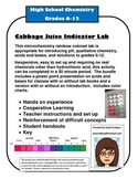 Microchemistry Indicator Lab - Cabbage Juice pH of common materials
