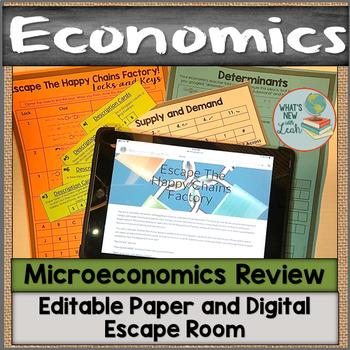 Microeconomics Escape Room Editable Digital and Paper Versions