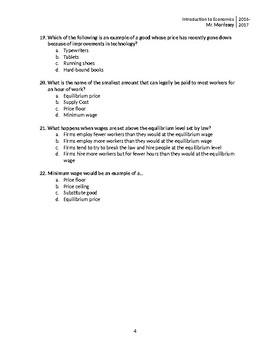 Microeconomics Exam