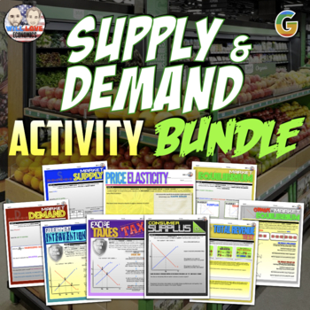 Microeconomics - Supply and Demand Unit Activity Bundle