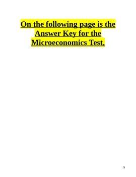 Microeconomics Test