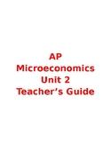 Microeconomics Unit 2 Part A Teacher's Guide