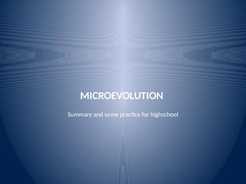 Microevolution elements  summary