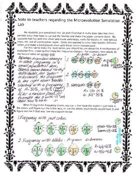 Microevolution Simulation Lab Teacher notes