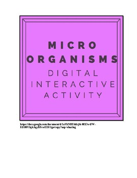 Distance Learning Microorganisms Hyperdoc