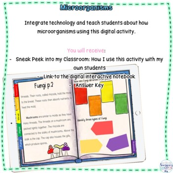 Microorganisms Nonfiction Digital Notebook Activity for Google Classroom