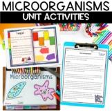 Microorganisms Nonfiction Articles, Flip Book, and Coloring Activity BUNDLE