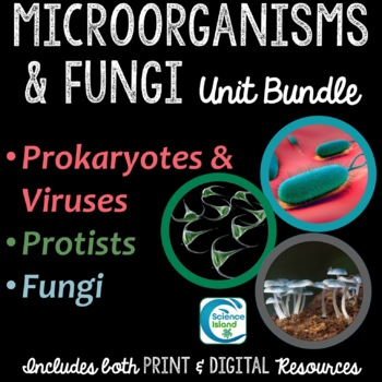 Microorganisms and Fungi Bundle: PowerPoints, Notes, and Task Cards