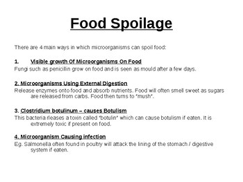 Microorganisms and food.