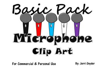 Microphone Clip Art Basic Pack