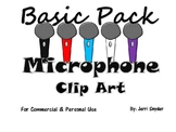 Microphone Clip Art Basic Pack