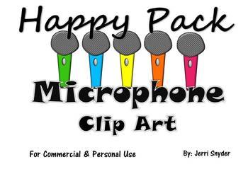 Microphone Clip Art Happy Pack