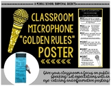 Microphone Rules Poster