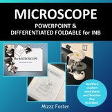 Microscope Guided Notes: PowerPoint and Differentiated Foldable for INB